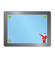 tablet pc with Santa vector image vector image