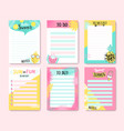 templates for notes to do and buy lists vector image vector image