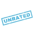 Unrated Rubber Stamp vector image vector image