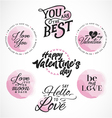 Valentines Day Typography Designs vector image vector image