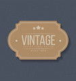 vintage labels and frame design elements for vector image vector image