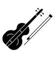 violin icon black sign on vector image vector image