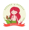 Zodiac signs Pisces of the vector image