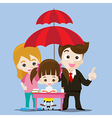 Family protect concept business man cartoon smile vector image