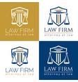law firm logo column vector image
