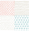 abstract handdrawn seamless patterns set simple vector image