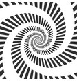 abstract hypnotic spiral vector image vector image