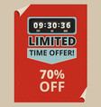 advertise poster with countdown clock and some vector image vector image