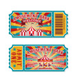 amusement park ticket family park attractions vector image vector image