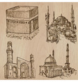 Architecture Famous places - Hand drawn vector image