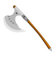 axe of barbarian with wooden handle on white vector image vector image