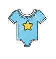 baby boy clothes that used to sleep vector image vector image
