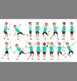 badminton player male summer activity vector image