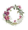 beautiful floral wreath for your text vector image vector image