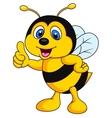 Bee cartoon thumb up vector image vector image