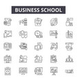 business school line icons signs set vector image vector image