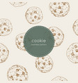 chocolate chip cookie seamless pattern vector image vector image