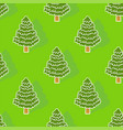 christmas tree pattern seamless xmas background vector image vector image