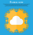 cloud Floral flat design on a blue abstract vector image vector image