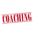 coaching red grunge vintage stamp isolated on vector image vector image