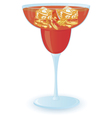 cocktail with ice vector image vector image
