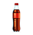 cola bottle icon soda bottle with red lable vector image vector image
