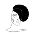 continuous line abstract face contemporary vector image vector image
