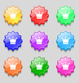 Crown icon sign Symbols on nine wavy colourful vector image vector image