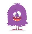 cute cartoon monster gremlin or troll smiling vector image vector image