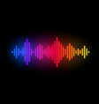 Digital music equalizer color waves design