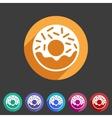 Doughnut donut icon flat web sign symbol logo vector image