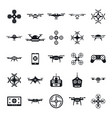drone camera quadcopter icons set simple style vector image vector image