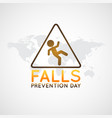 falls prevention day logo icon vector image