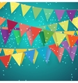 Festive background with flags vector image vector image