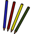 Four pencils vector image vector image