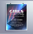 girls club party music event flyer template vector image