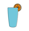 glass with orange juice vector image vector image