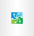 green blue arrows recycling symbol vector image vector image