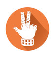 hand in rock gesture symbol vector image