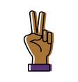 hand peace symbol vector image vector image