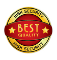 High Security Best Quality Logo isolated on white vector image vector image