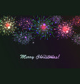 holiday colour fireworks vector image