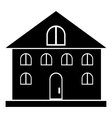 Home building icon simple style vector image vector image