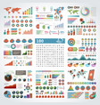 infographics design templates set charts vector image vector image