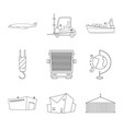 isolated object of goods and cargo logo vector image