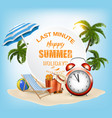 last minute summer vacation background vector image vector image