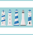 light house icons collection set 2 vector image vector image