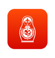 matryoshka icon digital red vector image vector image