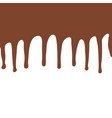 melting chocolate dripping on white background vector image vector image