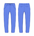 mens purple trousers vector image vector image